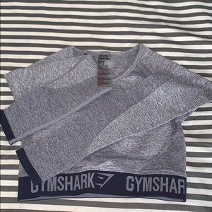NWOT Gymshark Flex Long Sleeve Crop Top Small